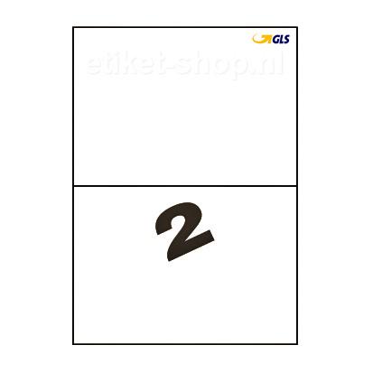 GLS-A4-etiketten-2vel-210x1485mm