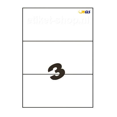 GLS-A4-etiketten-3vel-210x99mm
