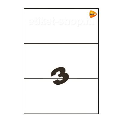 PostNL-A4-etiketten-3vel-210x99mm