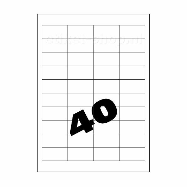 A4 etiketten 40vel, 48,5x25,4mm