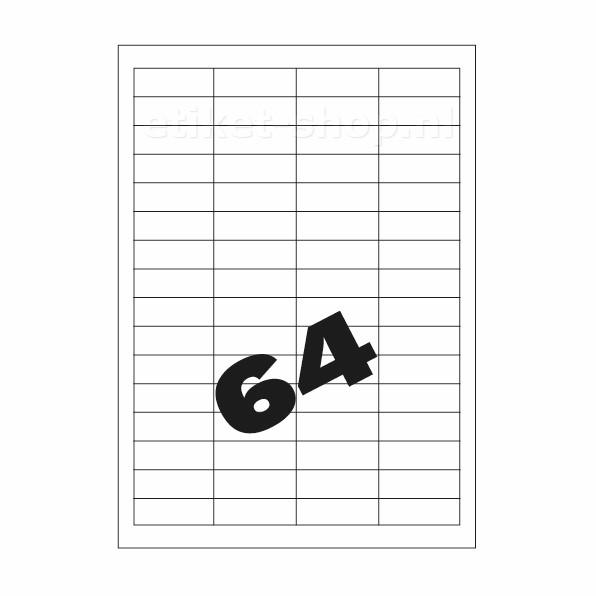 A4 etiketten 64vel, 48,3x16,9mm
